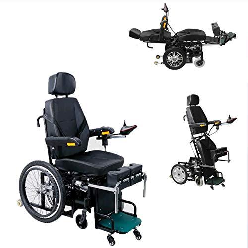 XMXWQ Elektrische rolstoel, rolstoel, scooter, multifunctioneel alarm, omgekeerd, veiliger voor oudere en gehandicapte personen