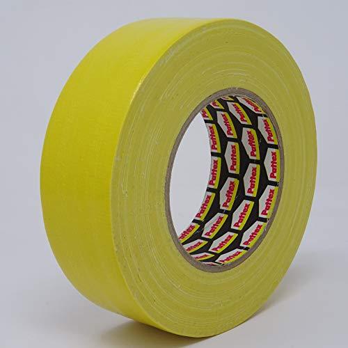 PATTEX Power Tape Professional | Gewebeklebeband, Betonband mit sehr guter Klebkraft | Länge: 50 m - Breite: 50 m (1, gelb)
