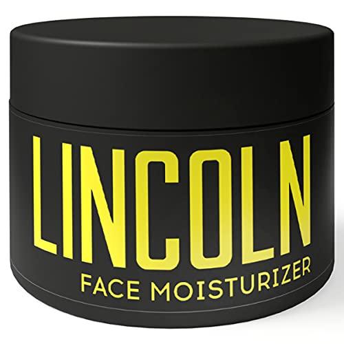 LINCOLN Crema Idratante Viso Uomo all'Aloe Vera e Vitamine - Crema Viso Antirughe Acido Ialuronico -...