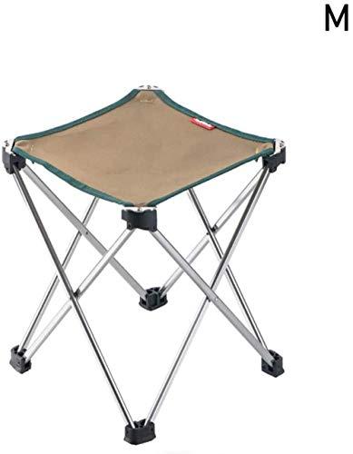 YYZZ Mini Tabouret de Camp en Alliage D'aluminium Pliant Tabouret De Camping Léger Portable Chaise De Camp Pliante Chaises Pliables en Plein Air pour Voyage Camping-Vert_Grand