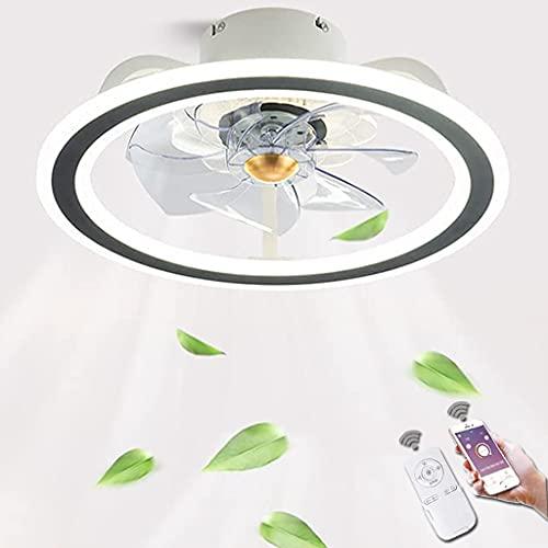 Luces De Techo LED Ventilador De Techo De 36w Con Iluminación Control Remoto Regulable Moderno Luz De Ventilador De 3 Velocidades De Viento Lámpara De Techo De La Sala De Estar Del Dormitorio (Black)