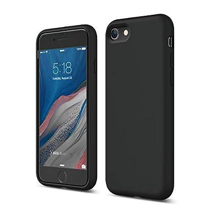 elago Silicona Líquida Funda Compatible con iPhone SE 2020, Compatible con iPhone 8 y Compatible con iPhone 7 – Protección 3 Estructuras, Funda de Premium Silicona (Negro)