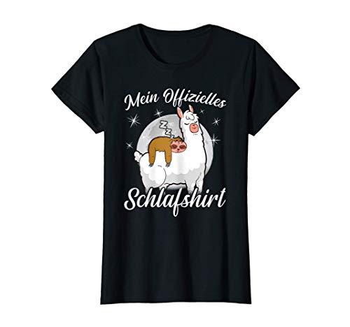 Schlafshirt Faultier Pyjama Nachthemd Lama Alpaka Geschenk T-Shirt