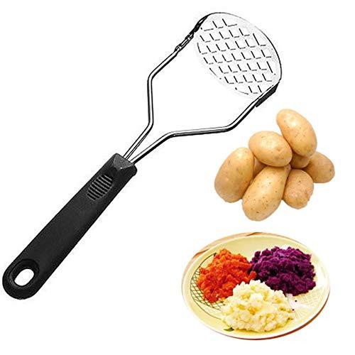 ZYYXB Kartoffelstampfer Crusher Heavy Duty Kartoffelpresse drücken mit Netz Runde Kartoffelbrecher mit Anti Rutsch Griff perfekt für Maischen Obst und Gemüse