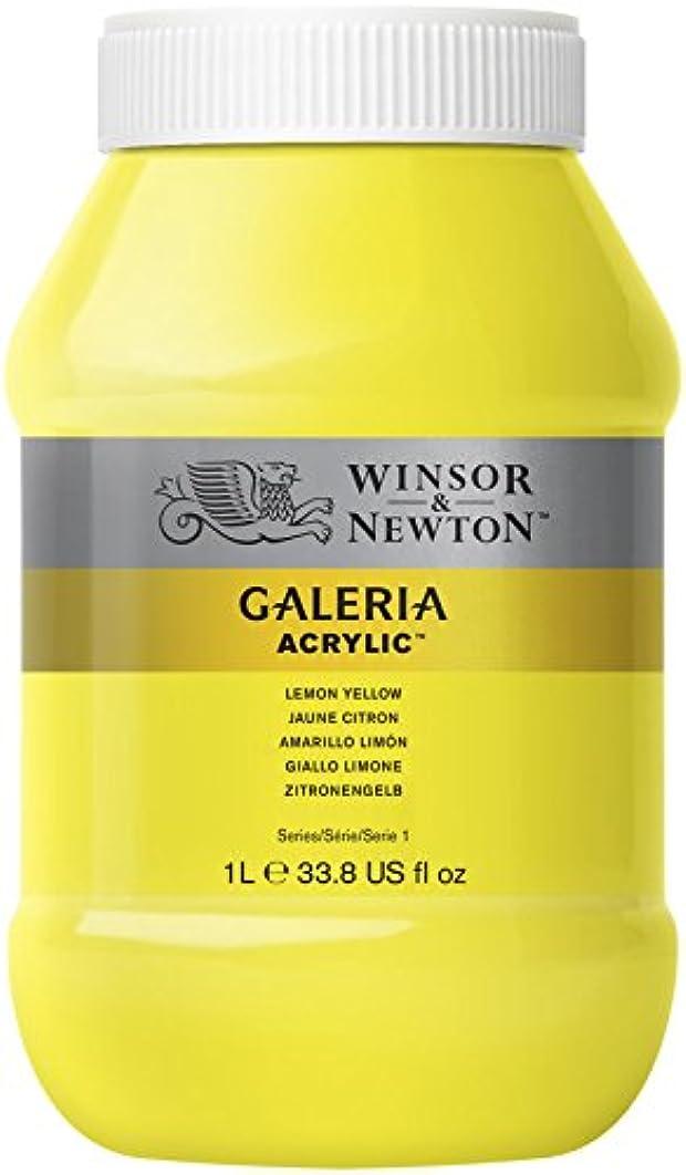 Winsor & Newton Galeria Acrylic, Lemon Yellow, 1000ml - Acrylfarbe