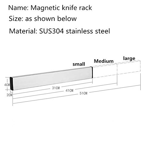 Magnetic Knife Holder Magnet Rack Strip Bar Storage Wall Mount for Kitchen Knife Knives Tool Spoon Display Rack Organizer - No Dead Spots - Best Magnetic Knife Rack (small)