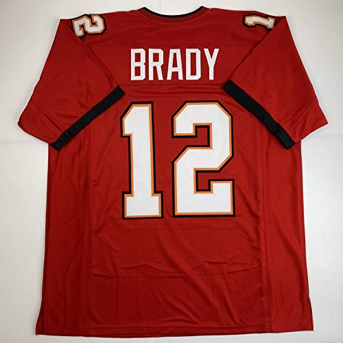 Unsigned Tom Brady Tampa Bay Red 2020 Custom Stitched Football Jersey Size Men's XL New No Brands/Logos
