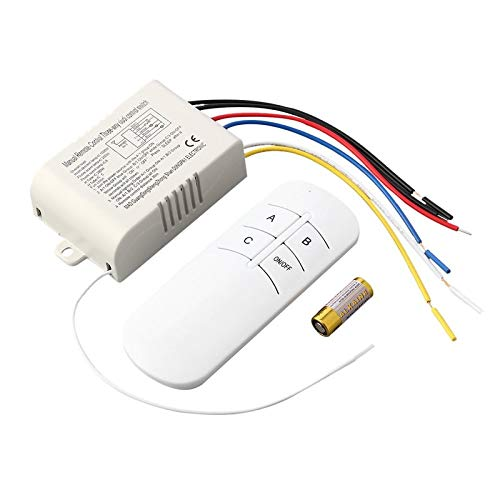BianchiPatricia 220V 3 Way ON/Off Digital RF Remote Control Switch Wireless For Light Lamp