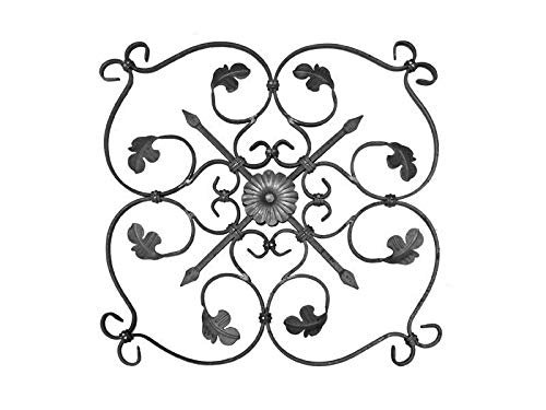 Rosette Zierornament Zaun Tor Flachstahl Geländer h600, b600, 12x6mm