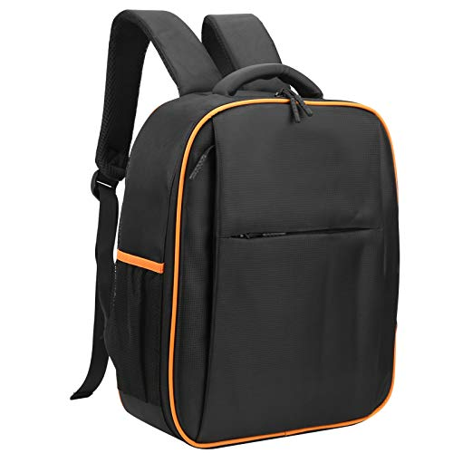 banapo Drone Storage Bag, Drone Bag, Shockproof Waterproof Camping Use for Outdoor Black/Orange Camping