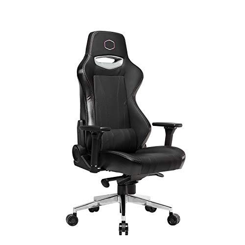 Cooler Master Caliber R1 - Sedia da ufficio con schienale alto, ergonomica, altezza seduta e braccioli, reclinabile, cuscini con poggiatesta e supporto lombare 1 pezzo.