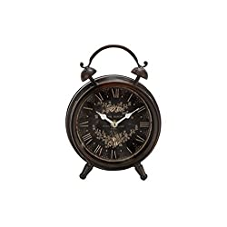 Deco 79 Metal Table Clock 9 H, 6 W-52508, 9 x 6