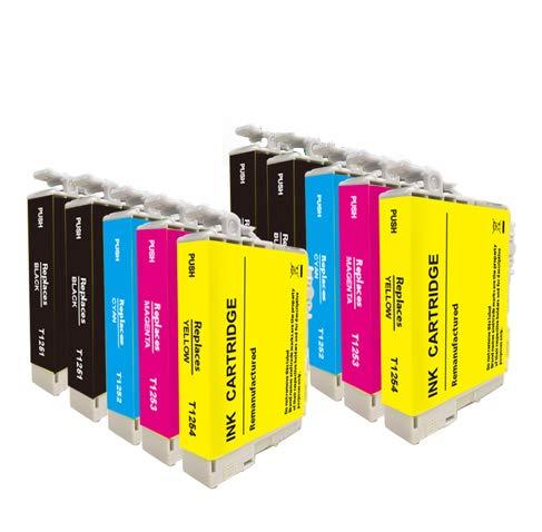 Remanufactured Ink Cartridge Replacement for Epson 125XL (4 Black 2 Cyan 2 Magenta 2 Yellow 10-Pack) NX125 NX127 NX130 NX230 NX420 NX530 NX625 Workforce 320 323 325 520 Printer