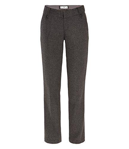 SOCCX Damen Tweed-Hose im Dandy Look