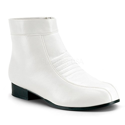 Mens Ankle Boots - White - Small Fancy Dress
