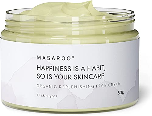 Replenishing Organic Face Cream: Anti-aging Face Collagen Cream with vitamin A, E, C - 100% Natural Face Moisturiser for Women and Men - Day and Night Cream for Mature Skin. For All Skin Types. 50ml
