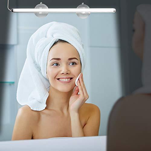 LED Vanity Mirror Lights, KOOT Portable Makeup Lights Simulated Daylight with 5 Color- USB Adapter Dual Use Brightness Adjustable Best Light for Makeup Mirror Closet Bedroom Bathroom