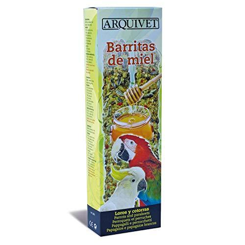 Arquivet Barritas de miel para loros y cotorras - 150 g