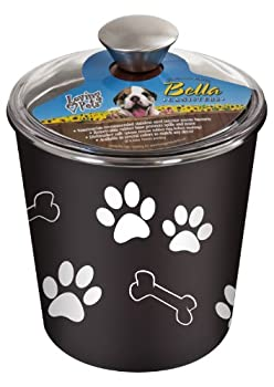 Loving Pets Bella Dog Bowl Canister/Treat Container Espresso