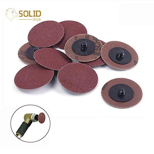 Terrarum 10 Stück/50 Stück 7,6 cm 75 mm 24~320 Körnung Typ R Roloc Schnellwechselscheiben Schleifscheiben Schleifwerkzeug für Metallbearbeitung Winkelschleifer – (Masche: 36, Farbe: 50 Stück)