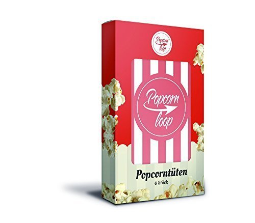 Popcornloop Tüten Original, 6 Portionierer für Popcorn