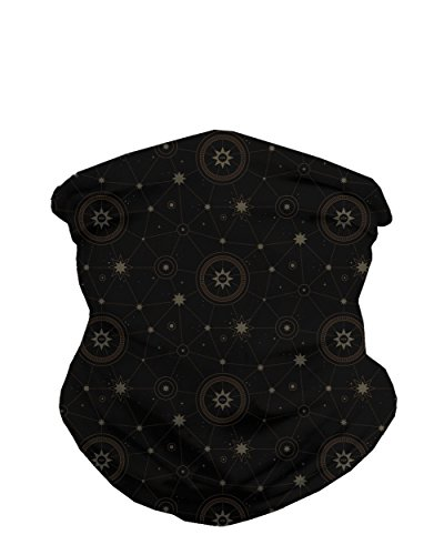 Star Search Neck Gaiter Mask Full Face Covering - Cool Breathable Lightweight Fabric Mouth Gator for Men & Women iHeartRaves