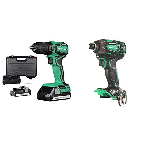 Metabo HPT 18V Cordless Driver Drill with Triple Hammer Impact Driver (Tool Only)