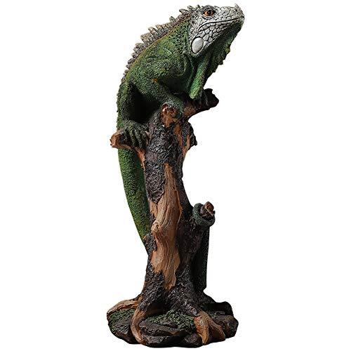 RNNTK Statue Lizard Model, Animal Sculpture Yard Art Decoration,Spiritual Decor Decorative Animals Statue Gift C (9x6x14inch)