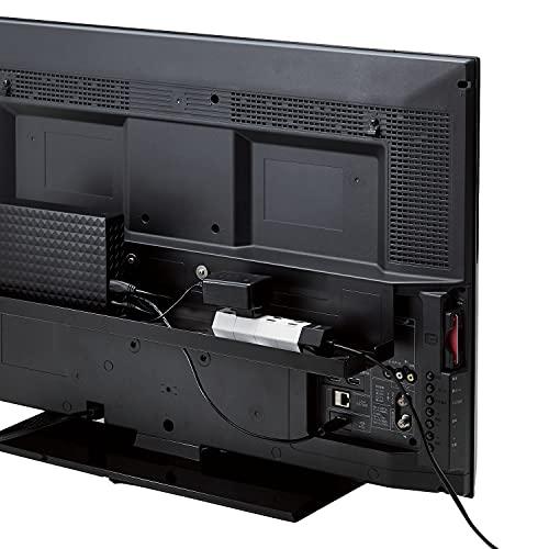 トレータイプのテレビ裏収納。ルーター類や外付けハードディスク、電源タップなどを置くのにピッタリです。