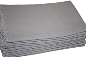 Auto Fender Cover and Seat Protector, Gray 6-Pieces, Eco-friendly 100% Soft Natural Cotton, protects auto surfaces, car interiors, seats, ideal for mechanic shop, garages, body shops, DIY projects