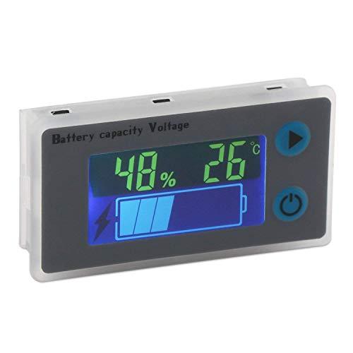 DollaTek Battery Capacity Monitor 10-100V Programmierbarer Batteriestand Spannung Temperatur Meter Gauge 12V 24V 36V 48V LCD-Anzeige Prozentsatz Indikator Tester Electric Quantity Detector