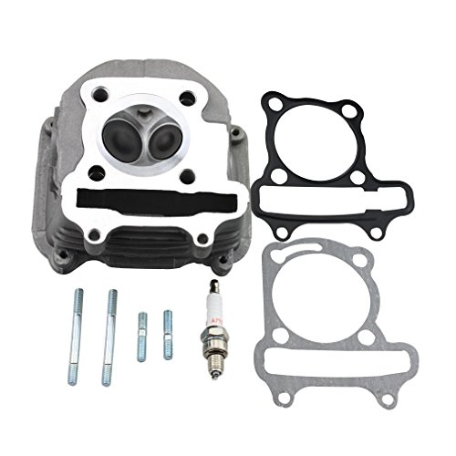 GOOFIT 57.4mm Cylinder Head with Gasket for 4 Stroke GY6 150cc ATV Scooter 157QMJ Engine Part