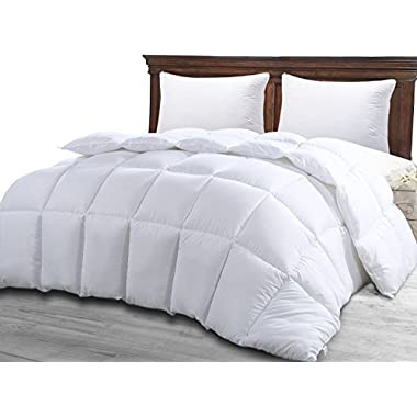 Queen Comforter Duvet Insert White - Quilted Comforter with Corner Tabs - Hypoallergenic, Plush Siliconized Fiberfill, Box Stitched Down Alternative Comforter by Utopia Bedding