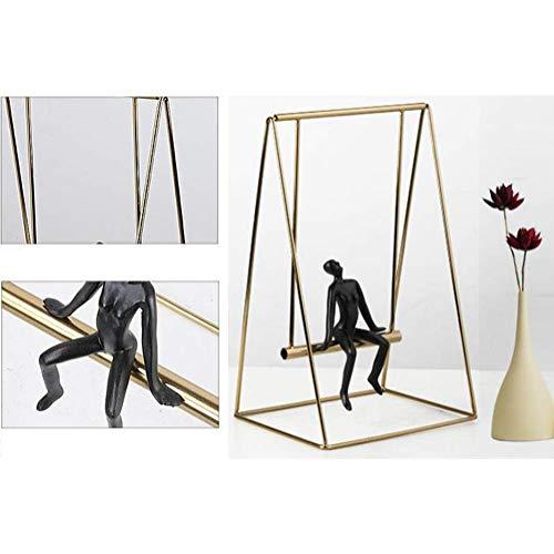 Moderne minimalistische metaal ambachten, brons zacht outfit swing ornamenten decoratie, huis TV-meubel woonkamer decoratie
