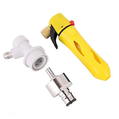 Haltegriff Pressurizer Keg Charger Kit mit Carbonation Cap für Bierbrau-Soda Drink Keg Charger(Gelb)