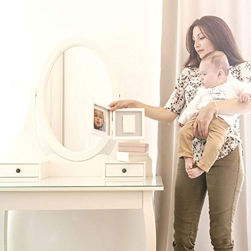 Baby Art Double Print Frame - Blanc / Gris