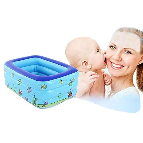 ZXDFG Piscine Gonflable Pliable pour Adultes Grande Famille été Bébé Piscine à Billes Marine Piscine en Plein Air (Bleu),150 * 110 * 50cm