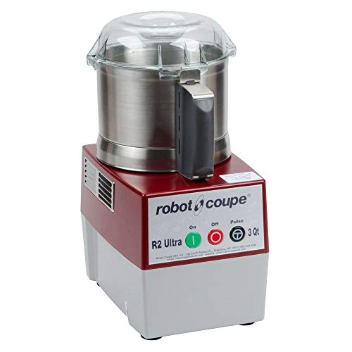 Robot Coupe R2N Ultra Continuous Feed Combination Food Processor with 3-Quart Stainless Steel Bowl, 1-HP, 120-Volts