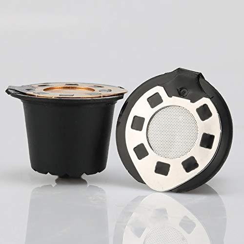 WanBeauty 3Pcs Filtri Per Caffè Tazze Filtro Filtro Riutilizzabile In Acciaio Inossidabile Tazza Per Capsule Riutilizzabile Per Nespresso Argento