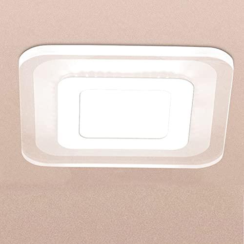 Fuoliystep Luz de Techo Led Moderna Luminaria de Techo Led de 16W Luz de Techo Ultradelgada Lámpara de Techo Cuadrada Ultradelgada para Dormitorio Sala de Estar Oficina (Blanco Puro)