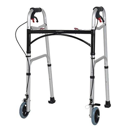 PIVFEDQX Andador, Andador de Altura Ajustable con Ruedas Delanteras de 5', liberación del gatillo, Andador Plegable (Personas Bajas, estándar, Altas)