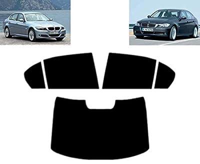 Film Solaire Prédécoupé Teinté pour-BMW 3 série E90 4-Portes Berline 2005-2012 Vitres Arrière & Lunette