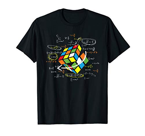 Cool Math Rubix Cube Shirt Funny Rubik Cube Math Lovers Gift T-Shirt