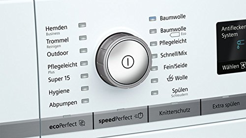 Siemens iQ700 WM14W570 Waschmaschine / 8,00 kg / A+++ / 196 kWh / 1.400 U/min / Schnellwaschprogramm / Nachlegefunktion / aquaStop - 4