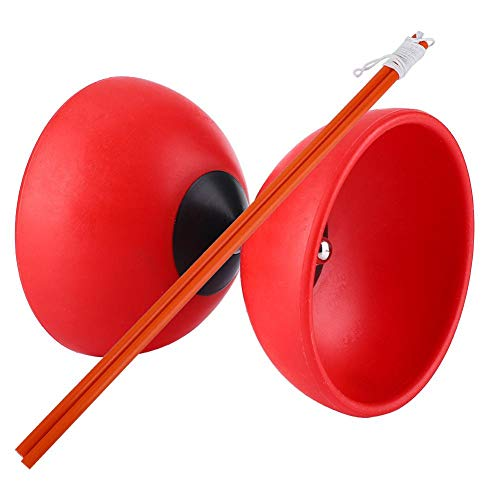 VGEBY1 Diabolo, Chinese Yoyo Set with Diablolo Sticks for Outdoor Activities Gaming Young Old People(Red)