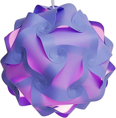 XLitDe Lámpara Kit Shade 30 Piezas, Creativo Auto de Bricolaje Montado fácil Puzzle Pantalla para la Sala Art Room Decor Bola de la Flor Cubierta de Techo Luz Pendiente Accesorios,Púrpura,M