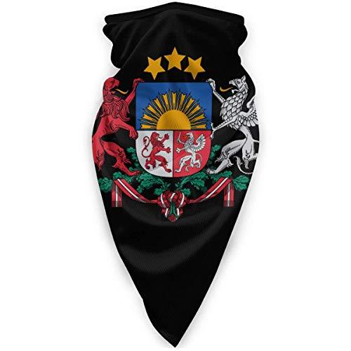 WlQshop emblème National du Cache-Cou letton Plus Chaud Coupe-Vent Couverture du Visage écharpe Couverture de Sports de Plein air