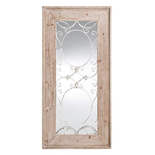 Espejo Ventana Natural de Madera Hierro de 150x73 cm - LOLAh