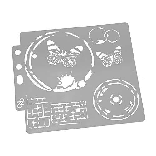 Plantillas de mariposas para álbumes de recortes, estampado, tarjeta de álbum