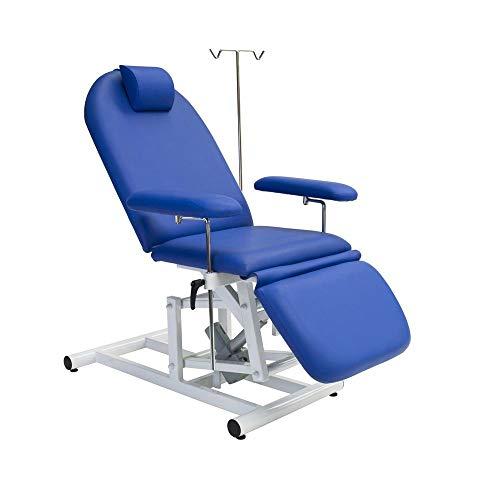 Tumbona Terapia Ajustable Eléctricamente 54-86 cm, con Infusionsständer, C-1102-56 Azul Marino